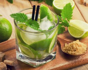 A tempting mojito cocktail, but just be aware of the sugar in a drink such as this
