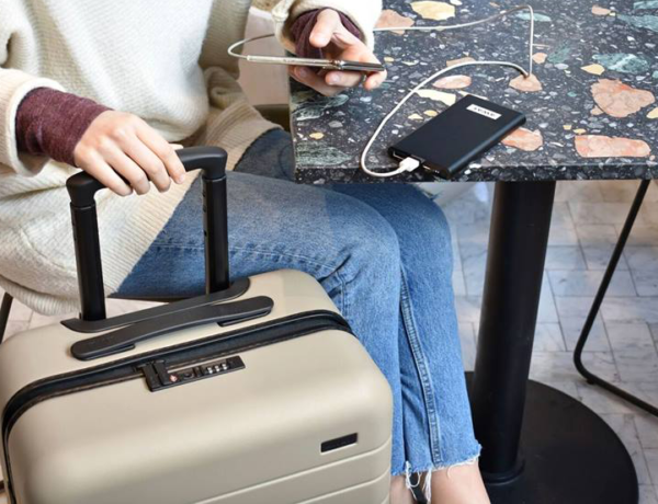 Away Travel's luggage range is now shipping in spring-inspired Sky